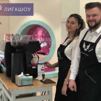 Кофейный бар и кофейный принтер для ювелирного завода «Адамас»
